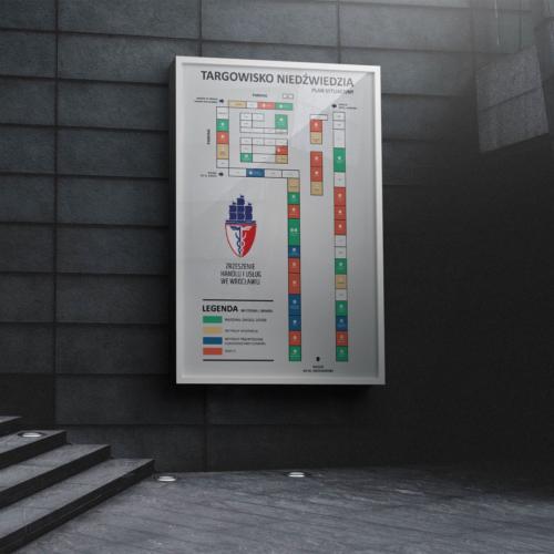 Projekt planu sytuacyjnego na Targowisko Niedźwiedzia we Wrocławiu